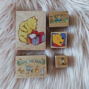 Winnie the Pooh Rubber Stamp Set